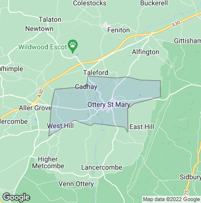 Map of property in Ottery St. Mary