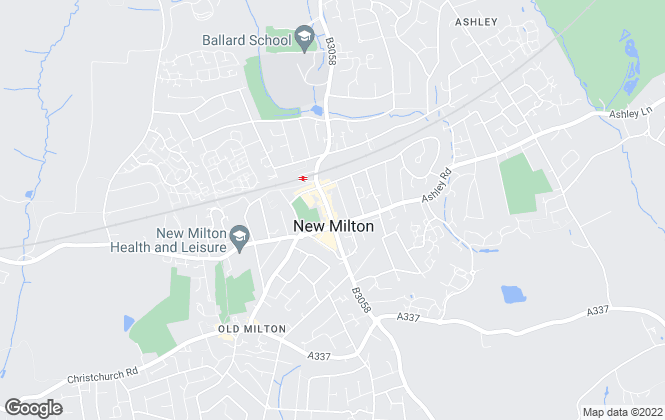 Map for Harrison Estate Agents, New Milton