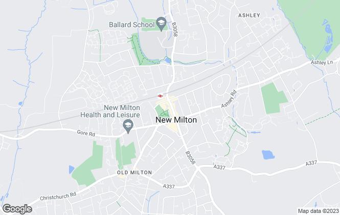 Map for Harrison Estate Agents, New Milton