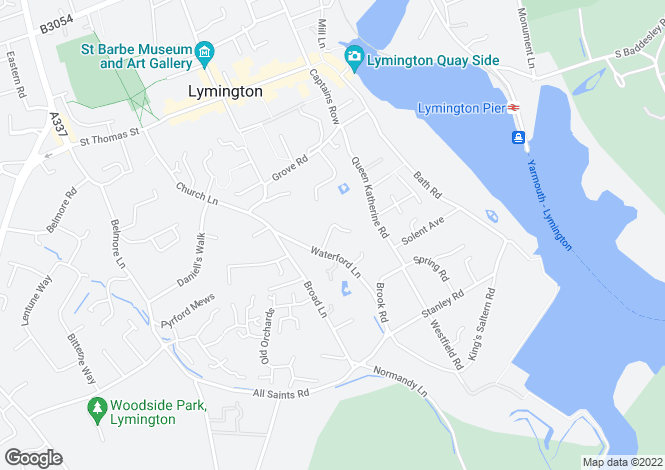 Map for Waterford Close, Lymington, Hampshire, SO41