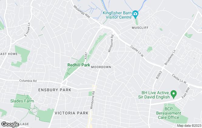 Map for Derek J Rolls, Bournemouth