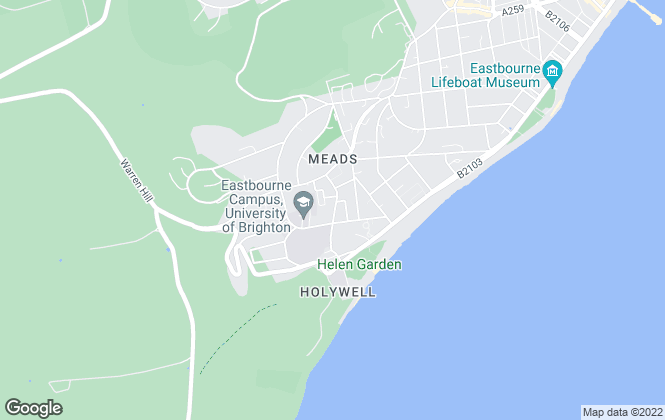 Map for McGregor Letting Consultants, Eastbourne