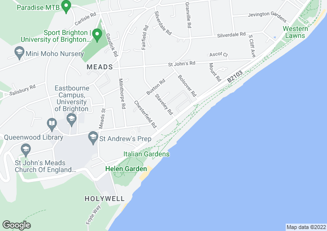 Map for Staveley Road,