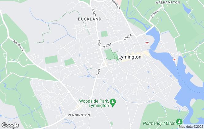 Map for J R Hill, Lymington