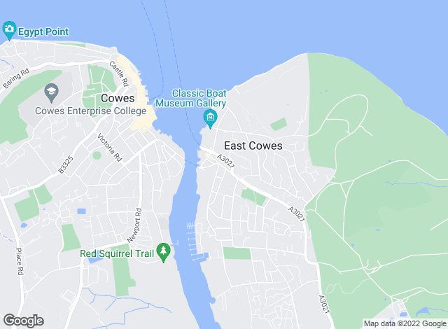Map for The Wright Estate Agency, East Cowes