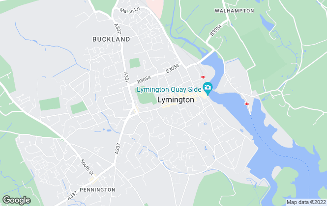 Map for Ridgeway Rents, Lymington