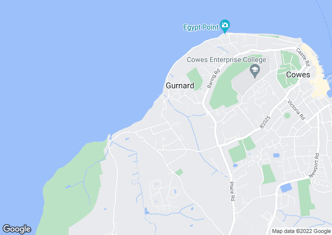 Map for Worsley Road, Gurnard