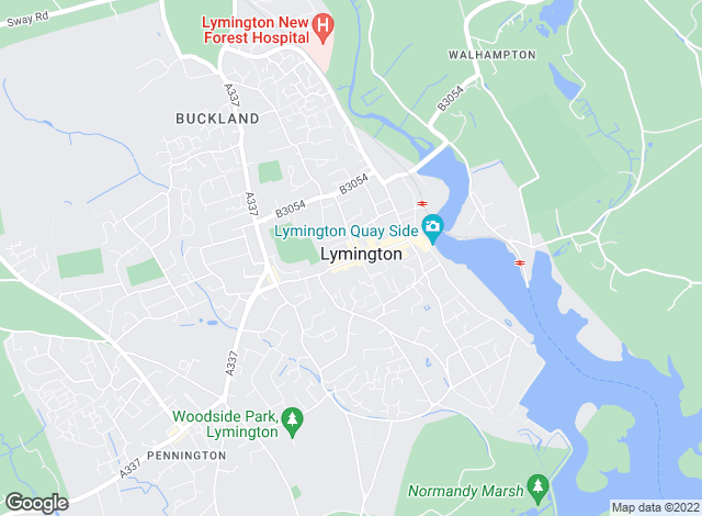 Map for Hayward Fox, Lymington