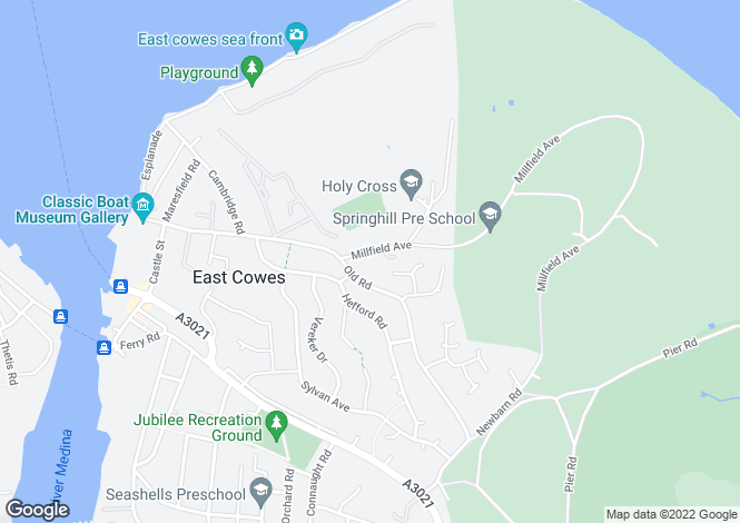 Map for East Cowes,