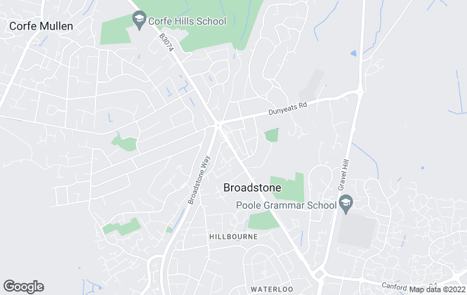 Map for Hillier Wilson, Broadstone