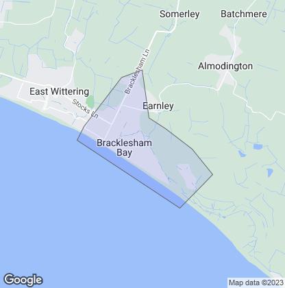 Map of property in Bracklesham Bay