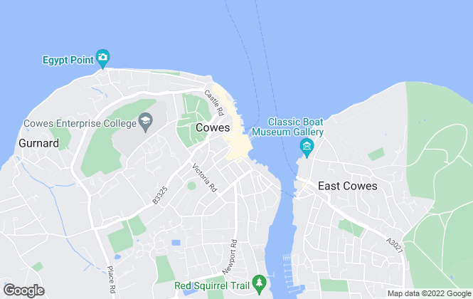 Map for Fox & home, Isle of Wight West