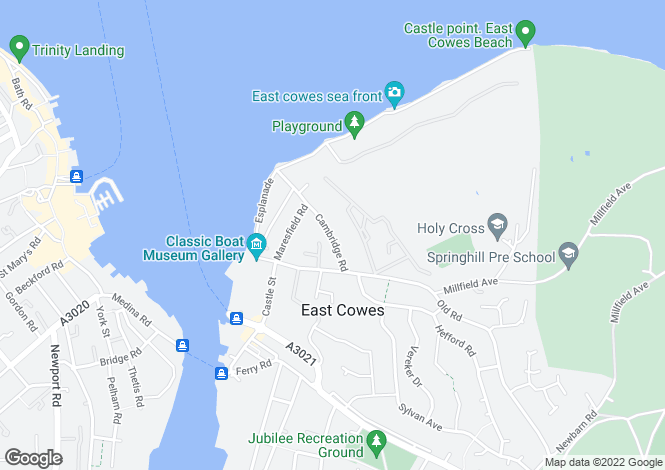 Map for Admirals Point, East Cowes