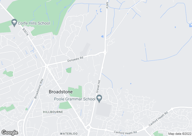 Map for Ashwood Drive, Broadstone, Dorset