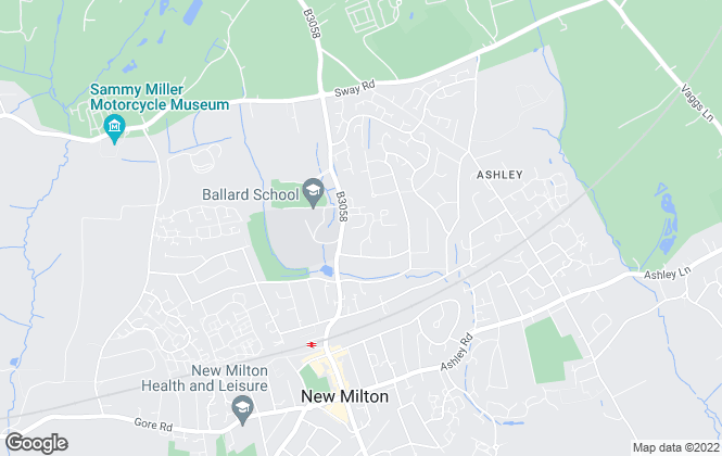 Map for Retirement Homesearch, New Milton