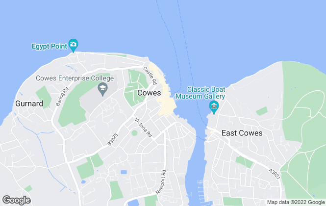 Map for Pittis, Cowes