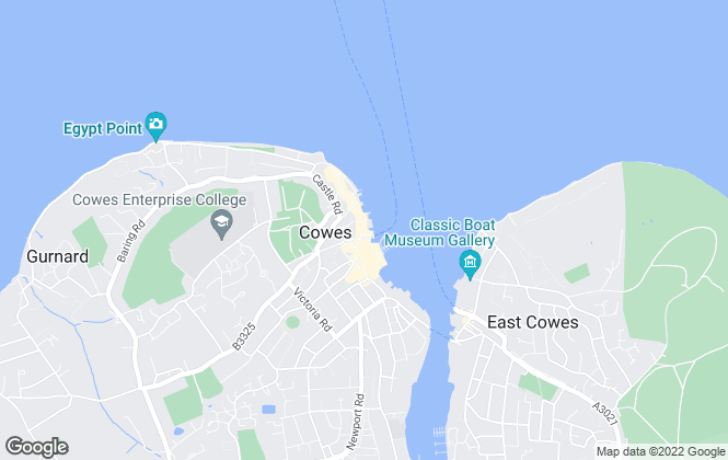 Map for Hose Rhodes Dickson, Cowes