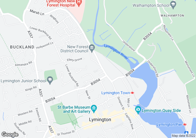 Map for Marsh Lane, Lymington