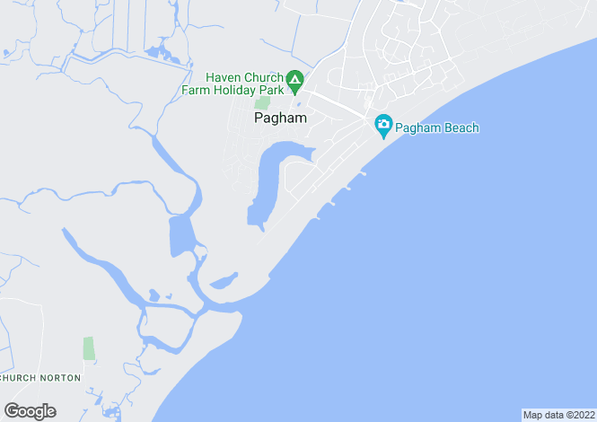 Map for Pagham Beach