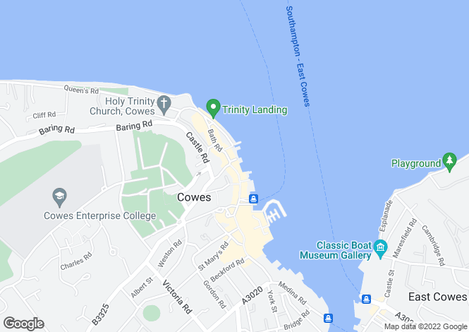 Map for Cowes