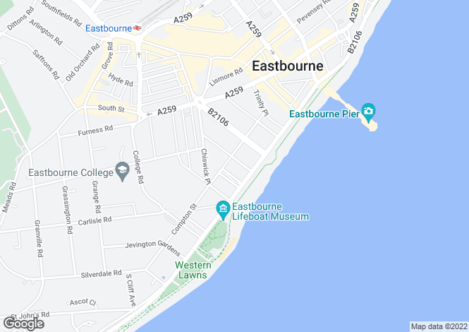 Map for Burlington Place, EASTBOURNE