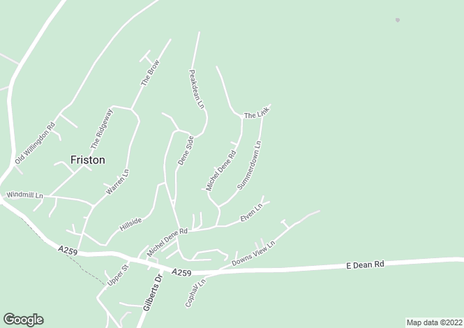 Map for Michel Dene Road,