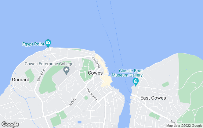 Map for Lancasters Estate Agents, Cowes