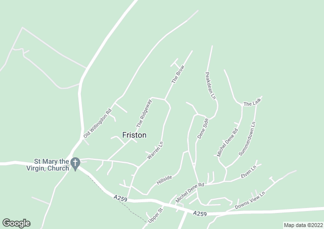 Map for Warren Lane,