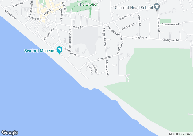 Map for Cliff Road, SEAFORD, East Sussex