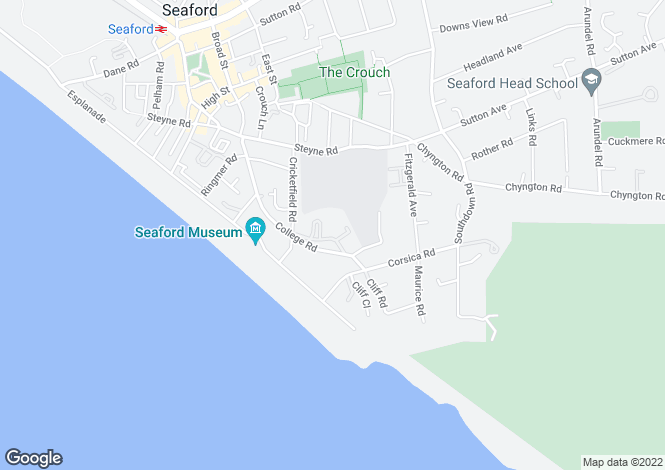 Map for Corsica Hall, Seaford, BN25