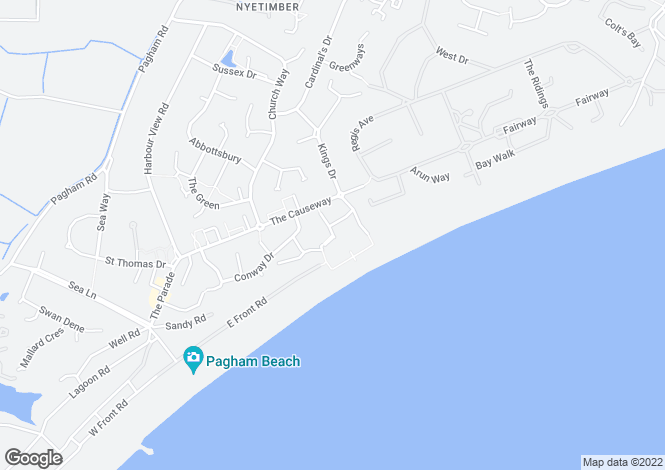 Map for Ledra Drive, Pagham, Bognor Regis, PO21