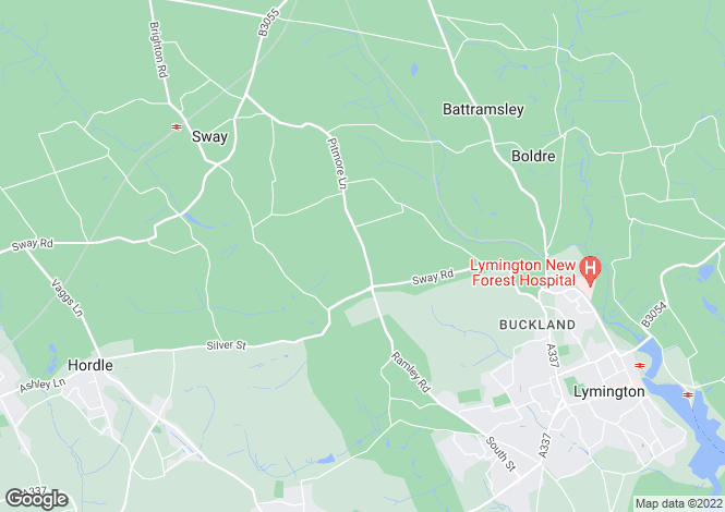 Map for Pitmore Lane , Sway , Hampshire