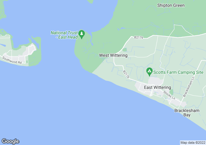 Map for West Wittering, Chichester, West Sussex