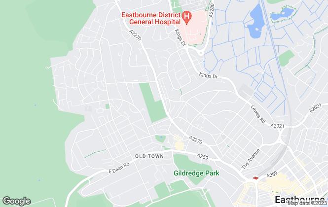 Map for Ancells Estates Ltd, Eastbourne