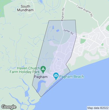 Map of property in Pagham