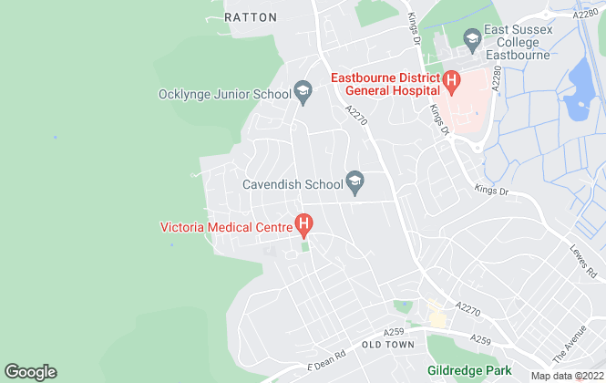 Map for Open House Estate Agents, Eastbourne