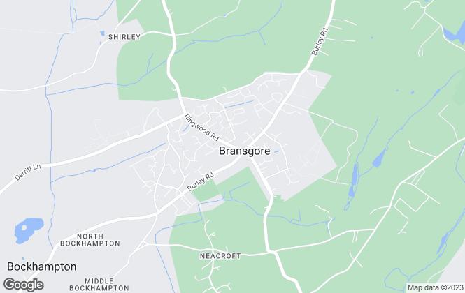 Map for Hayward Fox, Bransgore