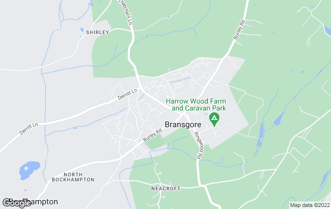 Map for Slades Estate Agents, Bransgore