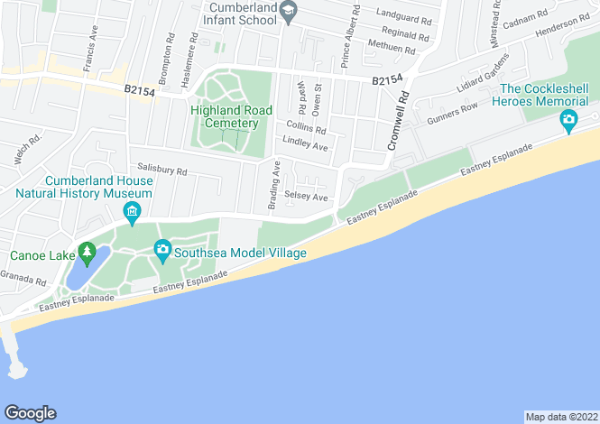 Map for Southsea Seafront, Portsmouth