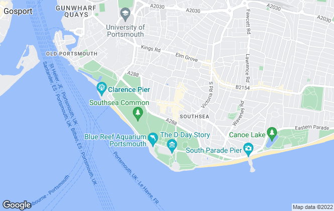 Map for GD3 Property , Southsea - Sales