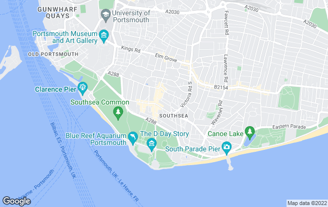 Map for Fry & Kent, Southsea Sales & Lettings
