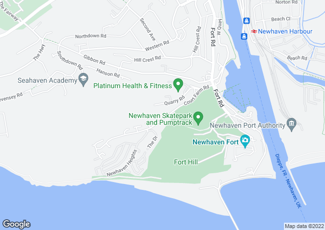 Map for Court Farm Road, Newhaven