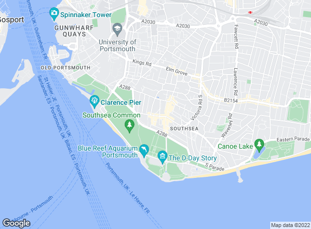 Map for Dack Residential Lettings, Southsea