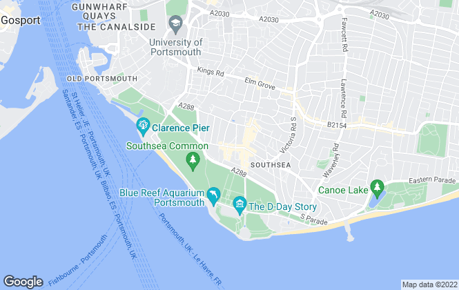 Map for Dack Residential Lettings & Sales, Southsea