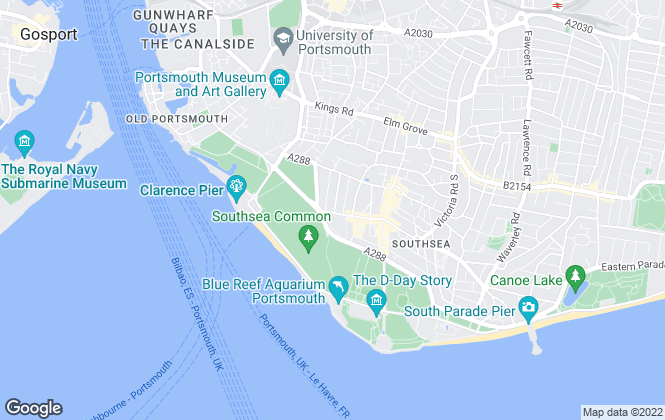 Map for Flats in Southsea Ltd, Portsmouth