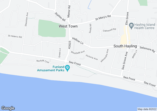 Map for Westfield Avenue, Hayling Island, Hampshire