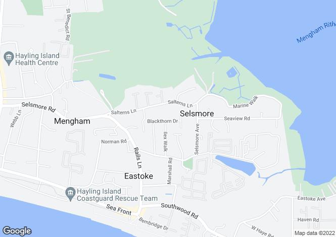 Map for 39 Blackthorn Drive, Hayling Island,
