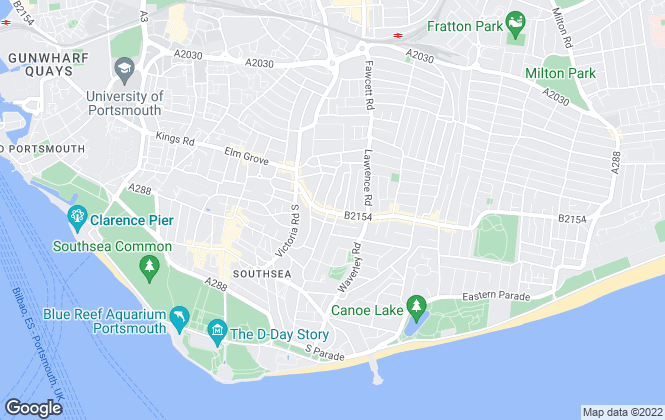Map for Kings Estates , Southsea