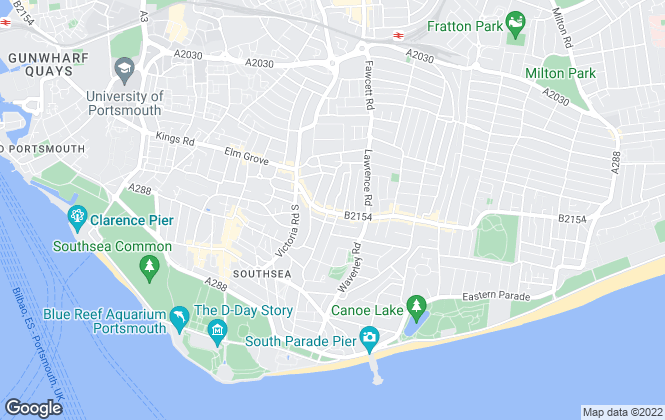 Map for Christies Estate Agents, Southsea