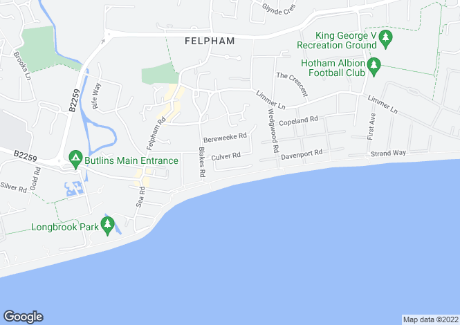 Map for Felpham
